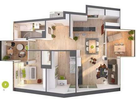Sonniges 3-Zimmer-Penthouse mit 2 Terrassen