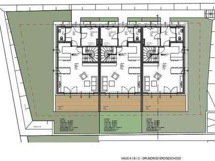 HAUS A - GEFOERDERTE Reihenhäuser+Garten+Terrasse+Galerie mit zusätzlicher Dachterrasse+2 TG+Keller Altenberg bei LInz