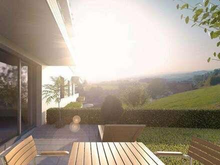 Wohnen am Sonnenhang- Panoramawohnung mit Eigengarten