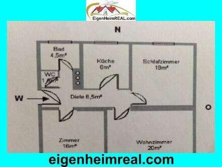 3 Zimmerwohnung mit Balkon - auch Anlegerwohnung