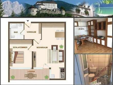2-Zimmerwohnung mit Loggia im Zentrum