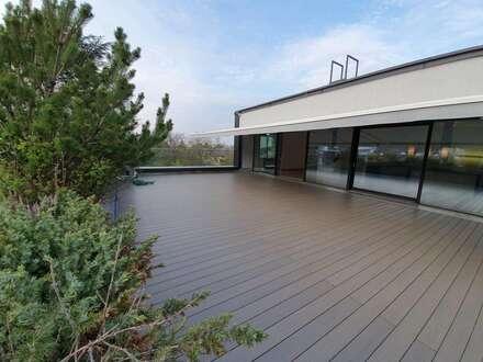 Premium-Dachterrassentraum in edler Ausstattung mit riesiger Sonnen-Terrasse & Garten im MÖDLINGER Zentrum in Ruhelage; Erdwärmeheizung