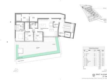 TOP 4 + 142,40 m² WNF + PROVISIONSFREI FÜR DEN KÄUFER + NÄHE REINERKOGEL + 97,57 m² TERRASSE