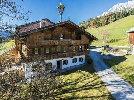Neu renoviertes Bauernhaus in Sonnenlage von Ellmau zu mieten