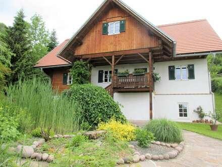 Deutschlandsberg - Wunderschönes naturverbundenes Einfamilienhaus in Ruhelage mit traumhaft gestaltetem Garten