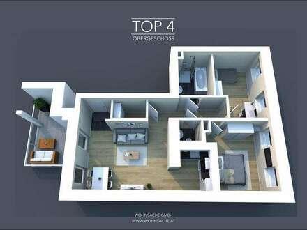 Neubau Stadtvillenwohnung | 65m² WFL + 10m² Balkon | Top 4 Obergeschoss