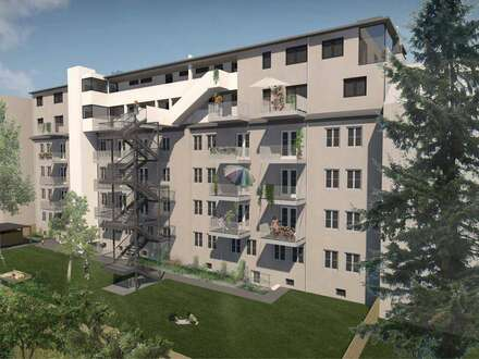 Easy Living am Dach: 2 Zimmer-Wohnung! Lichtdurchflutet, grün und zentral!