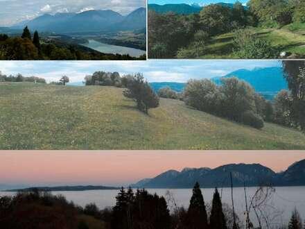 Wörthersee SÜD: Alleinlage Bauland/Landsitz/Arrondiert (ab 3281m2) Drüber den Wörthersee/ südwestlich Klagenfurt/Kärnten
