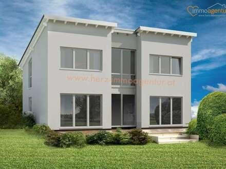 Modernes Einfamilien - Baumeisterhaus Ziegelmassiv, Wohnfläche 155 qm mit TOPAUSSTATTUNG, Belagsfertig ++