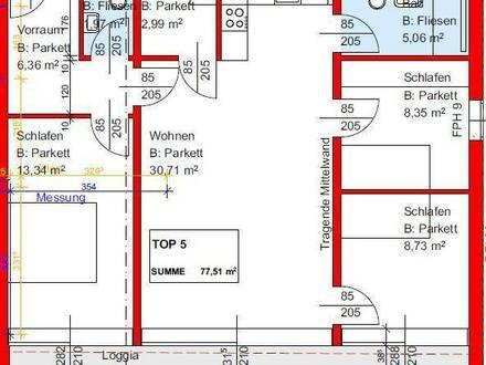 hochwertige 3 Zimmer Wohnung mit Balkon - Erstbezug