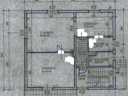 72 m2 EG-Mietwohnung mit Balkon und Gartennutzung