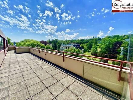 Penthouse Büro mit 360 Grad Dachterrasse und Fernblick -Deckenkühlung- Barrierefrei- Garagenplatz im Haus- Vergrößerung…