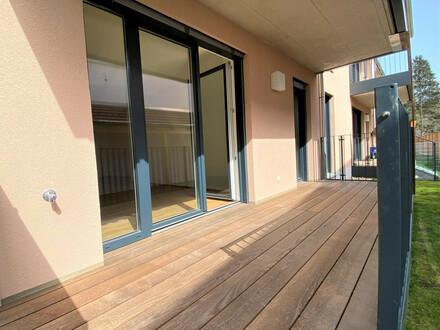 Provisionsfrei! Stilvolle Neubauwohnung mit Terrasse und Garten im Stadtzentrum