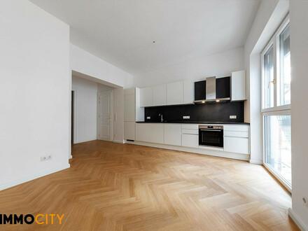 Hofseitig ausgerichtete 3-Zimmer Gartenwohnung mit 2 Terrassen +Eigengarten Nähe Mariahilfer Straße,Erstbezug!