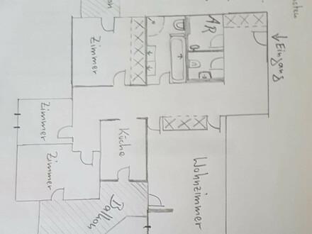 Schöne 4-Zi Dachgeschosswohnung in Geh-Nähe zu U4 Hütteldorf