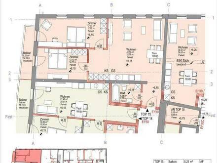 Moderne 3-Zimmer Wohnung Top 15 in Weer zu mieten!