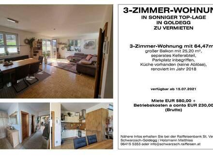 3-Zimmer Wohnung in Sonniger Top Lage