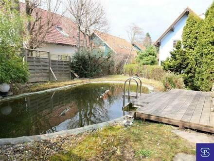 Sonnige 120m² Doppelhaushälfte mit Schwimm-Biotop!