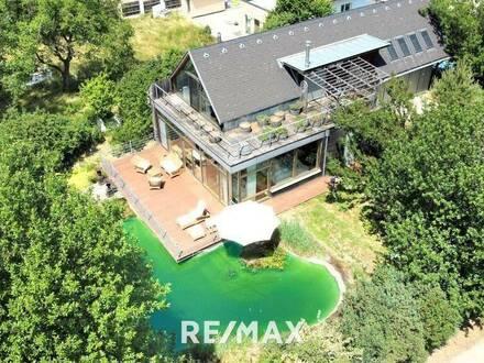Architektenhaus - Naturgarten mit Schwimmteich