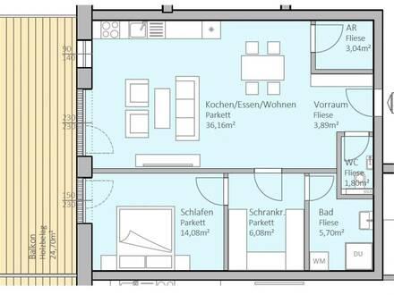 Hochwertige, neue Seeblick-Wohnung mit 71 m² Wohnfläche und 25 m² Terrasse am Klopeiner See, Top 8, 1.OG - keine Maklerprovision