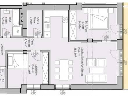 Wunderschöne, neue Gartenwohnung am Klopeiner See mit 89 m² Wohnfläche und 24 m² Terrasse, TOP 3, EG - keine Maklerprovision