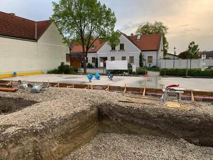 BAUBEGINN BEREITS ERFOLGT | Ziegelmassive Doppelhaushälfte mit Pool und Doppelgarage | 406 m2 großes Grundstück | ruhig…