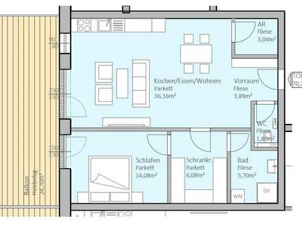 Hochwertige, neue Seeblick-Wohnung mit 71 m² Wohnfläche und 25 m² Terrasse am Klopeiner See, Top 13, 2.OG - keine Maklerprovision