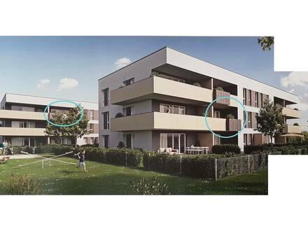 Zwei 56m² Wohnungen mit 12m² Balkon und TG-Abstellplatz in Linz Pichling Erstbezug Privatvermietung provisionsfrei!!