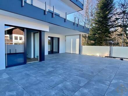Elegante 3-Zimmerwohnung mit 72 qm Panoramaterrasse und 2 TG-Stellplätzen mit E-Anschluss!