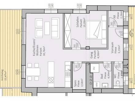 Lichtdurchflutete, neue Seeblick-Wohnung mit 69 m² Wohnfläche und 36 m² Terrasse am Klopeiner See, Top 11, 2.OG - keine Maklerprovision
