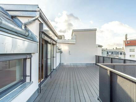 ++VIDEOBESICHTIGUNG++ Hochwertiger 3-Zimmer DG-ERSTBEZUG mit Terrasse (ca. 23m²), toller Grundriss! alles auf einer Ebene!