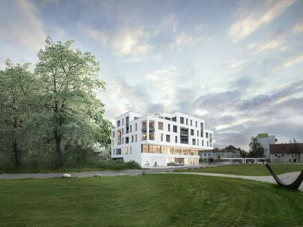 Urbaner Lifestyle trifft SchlossParkTraun - 123m² - Top-23 - die Beletage mit den 2 Dachterrassen