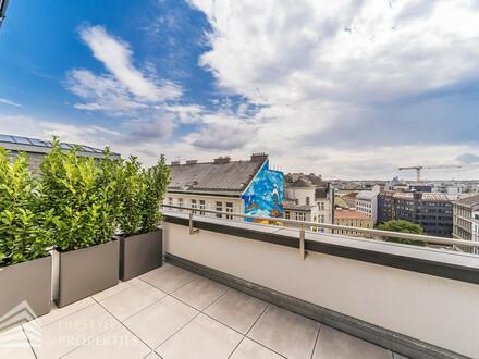 Extravagantes 4-Zimmer Penthouse mit Terrasse Nähe Gumpendorfer Straße