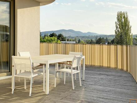 Rosenhügel: möblierte, klimatisierte Dachgeschosswohnung 112 m² Wohnfläche - 113 m² Terrasse - alles auf einer Ebene
