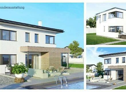 Randlage Höhnhart/Nahe Mattighofen - ELK-Design-Haus und Grundstück in leichter Hanglage (Wohnfläche - 130m² & 148m² & 174m²…