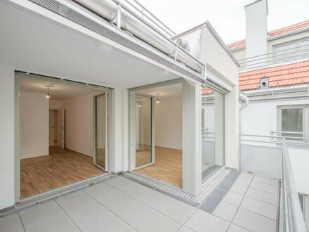 schöne, ruhig gelegene 2 Zi.-Neubauwohnung mit großer Freifläche!