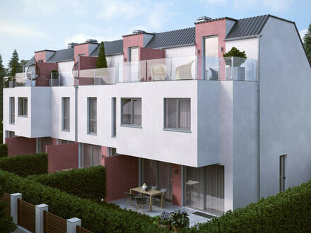 PAUL & Partner: ERSTBEZUG & UNBEFRISTET: Reihenhaus mit Dachterrasse, Keller, Fußbodenheizung, elektr. Jalousien