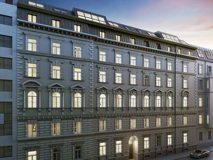 Büro in kernsaniertem Altbau mit Terrasse in zentraler Lage am unteren Belvedere (Erstbezug)