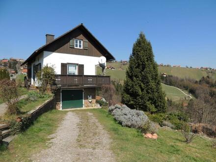 Traumhafte Aussicht in die Weinberge von Greisdorf!