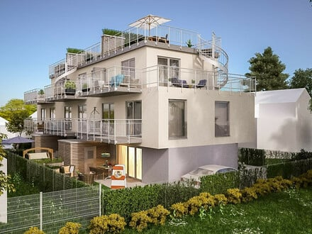 Lichtdurchflutetes Designerobjekt mit toller Raumaufteilung, 3 Ebenen - 3 Terrassen, cooler Garten