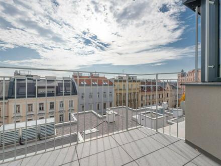 Six in the City: Hochwertige 2-Zimmerwohnung, BESTLAGE, Neubau mit Balkon und WEITBLICK!