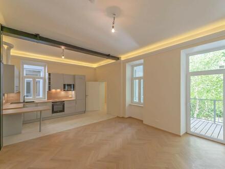 ++NEU++ Premium 2-Zimmer Altbau-ERSTBEZUG mit 14m² Balkon! FREI VERMIETBAR!