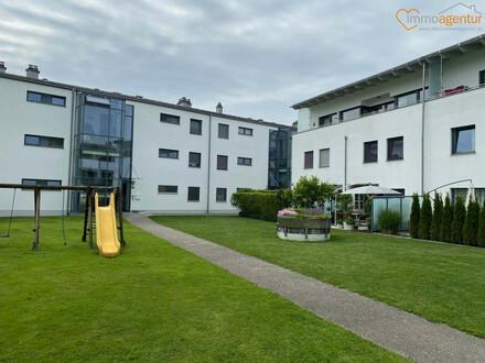 Geräumige, moderne 3-Zimmer-Erdgeschoßwohnung ca. 91m² mit großzügiger Loggia und Terrasse, mit direktem Gartenzugang