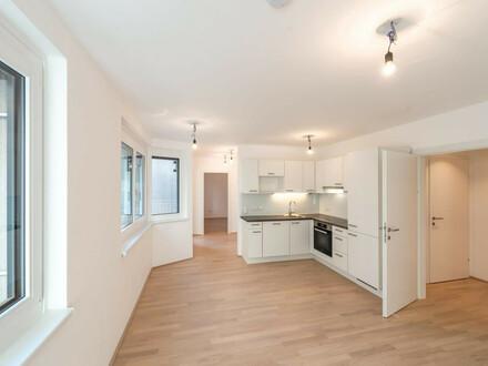 Six in the City: Premium 2-Zimmer NEUBAUwohnung mit Balkon, Hofruhelage mitten in der City! direkt beim Haus des Meeres!