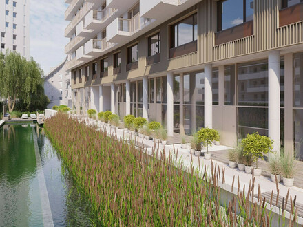 Lichtdurflutete Ateliers! Neubauprojekt mit Schwimmbiotop, einem Biosupermarkt sowie einer Traumdachterrasse mit Seeblick!…