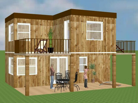 Perfektes Haus für kleine Bauflächen.