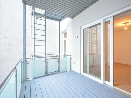Hofseitig: 2-Zimmer-Altbau mit Balkon