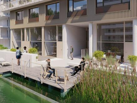 Lichtdurflutete Ateliers! Neubauprojekt mit Schwimmbiotop, einem Biosupermarkt sowie einer Traumdachterrasse mit Seeblick!