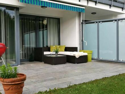Geräumige, moderne 3-Zimmer-Erdgeschoss-Wohnung ca. 91m² mit großzügiger Loggia und Terrasse, mit direktem Gartenzugang in…