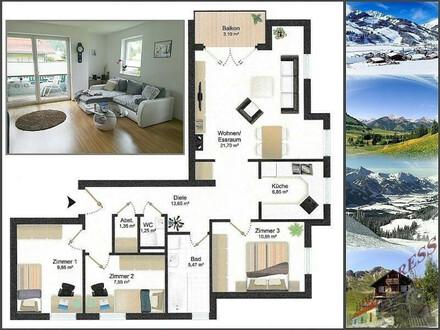Vermietung: Helle 4-Zimmerwohnung mit Tiefgaragenstellplatz in ruhiger Lage